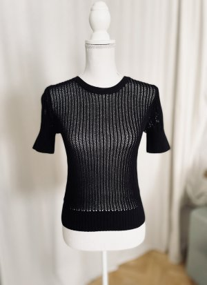 AndOtherStories Top en maille crochet noir coton