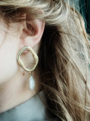 & other stories Pearl Earring gold-colored-white