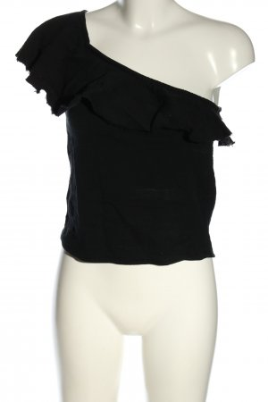 & other stories One-Shoulder-Shirt schwarz Casual-Look