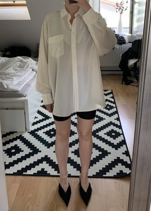 & Other Stories Oversize Seidenbluse Offwhite 34