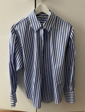 & other stories Camicia blusa bianco-blu Cotone