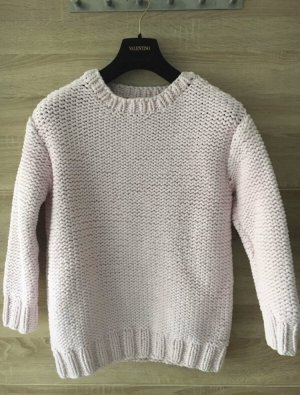 & other stories Oversized Lochstrick-Pullover in rosa, Größe S