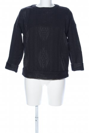 & other stories Oversized trui zwart casual uitstraling