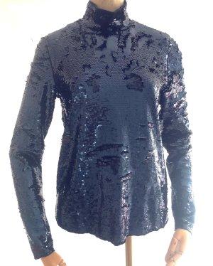 AndOtherStories Blouse brillante bleu-bleu foncé tissu mixte