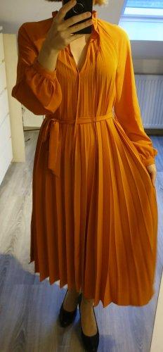 & other stories Plissee Kleid in orange, Gr. S