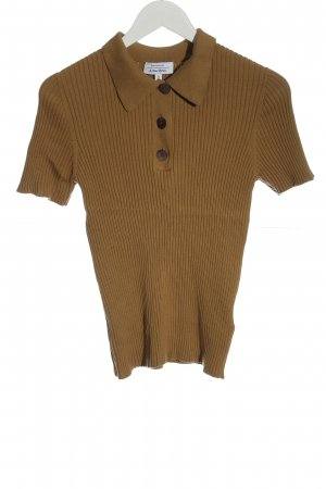 & other stories Polo shirt bruin casual uitstraling