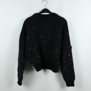 & other stories Pullover Gr. S schwarz gemustert Glitzer (19/12/056)