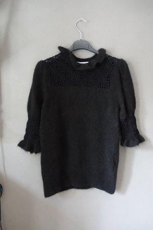 & other stories Short Sleeve Sweater black mixture fibre