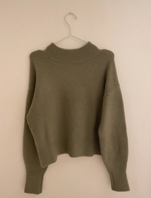 & Other Stories pullover mit Kragen grün/Lindgrün
