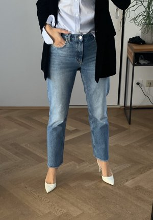 & other stories - Raw Edge Denim Jeans - Blue - Straight - 28 - Mid Rise