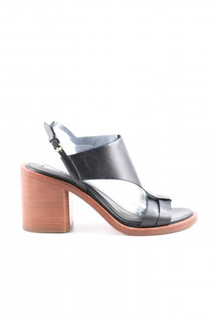 & other stories Strapped High-Heeled Sandals black leather