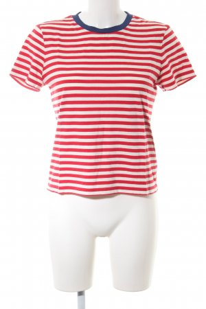 & other stories Gestreept shirt rood-wit gestreept patroon casual uitstraling