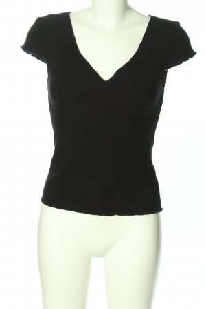 & other stories Ribbed Shirt black casual look