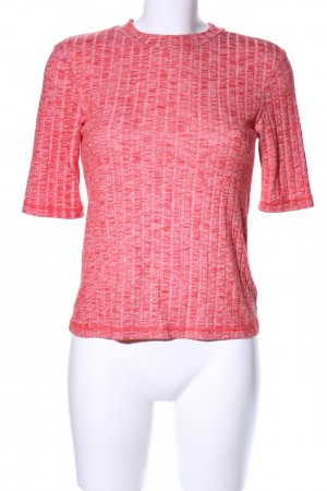 & other stories Geribd shirt rood gestippeld casual uitstraling