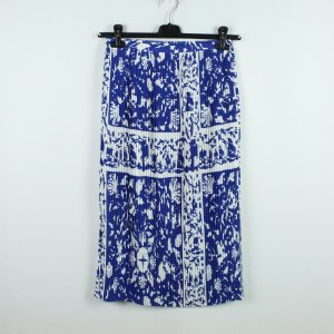 & other stories Pleated Skirt blue-white polyester