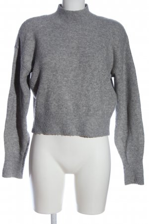 & other stories Jersey de cuello alto gris claro look casual