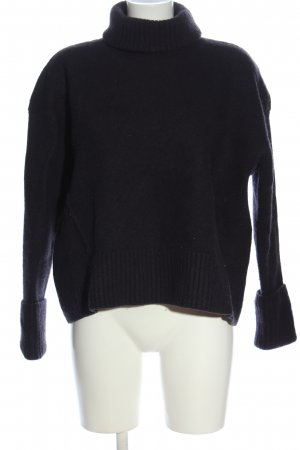 & other stories Rollkragenpullover schwarz Casual-Look