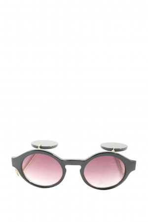 & other stories Round Sunglasses black-gold-colored casual look