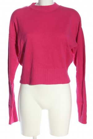 & other stories Jersey de cuello redondo rosa look casual
