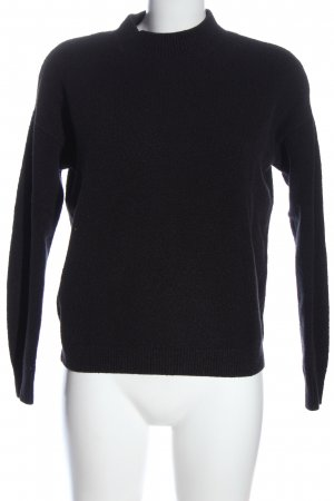 & other stories Jersey de cuello redondo negro look casual