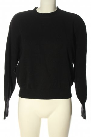 & other stories Crewneck Sweater black casual look