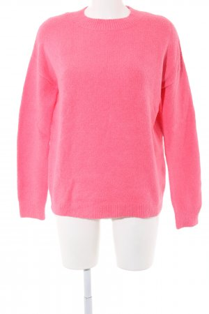 & other stories Rundhalspullover pink meliert Casual-Look