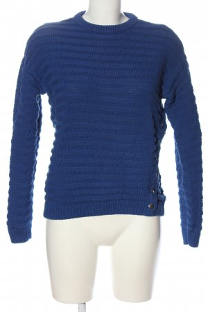 & other stories Rundhalspullover blau Zopfmuster Casual-Look