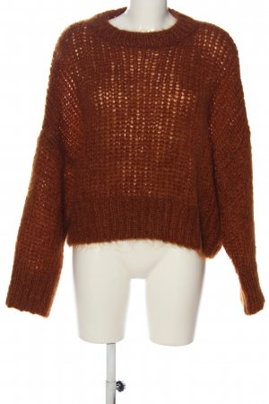 & other stories Maglione girocollo marrone stile casual