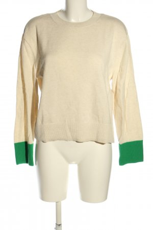 & other stories Jersey de cuello redondo crema-verde look casual