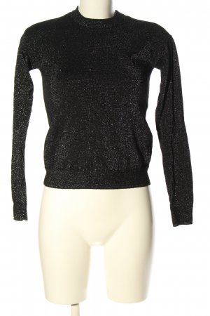 & other stories Jersey de cuello redondo negro-color plata look casual