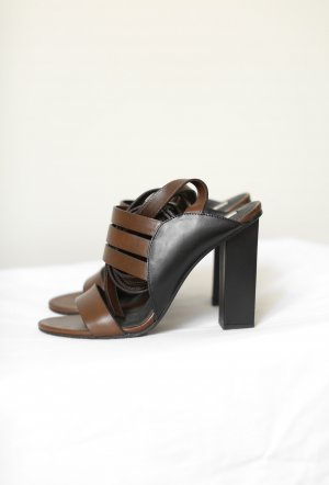 & other stories Strapped High-Heeled Sandals ocher leather