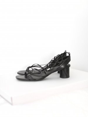 & Other Stories Sandalen Strappy Sandals Gr. 38 schwarz Vintage Look Leder
