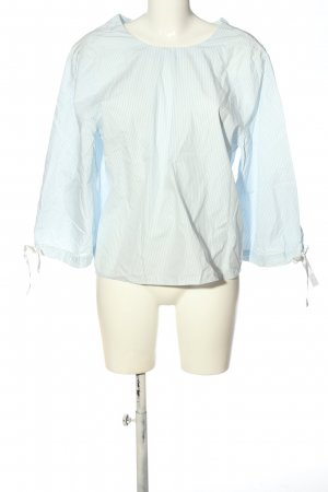 & other stories Slip-over blouse blauw-wit gestreept patroon casual uitstraling