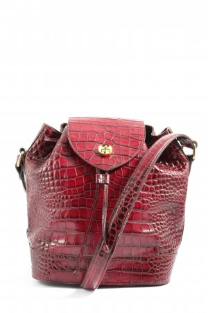 & other stories Schultertasche rot Allover-Druck Casual-Look