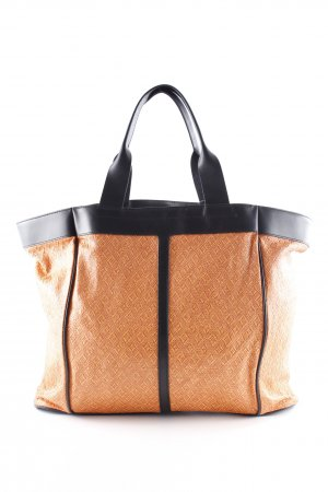 & other stories Shopper schwarz-orange Aztekenmuster Casual-Look