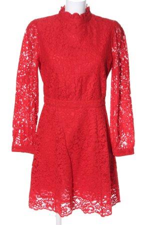 & other stories Vestido de encaje rojo elegante