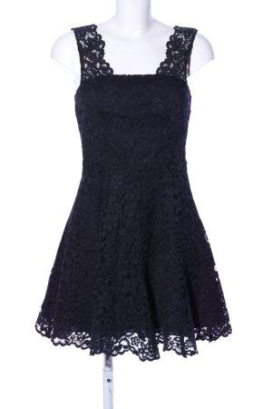 & other stories Kanten jurk zwart bloemenprint elegant