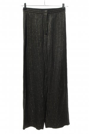 & other stories Stoffhose schwarz-goldfarben Streifenmuster Casual-Look