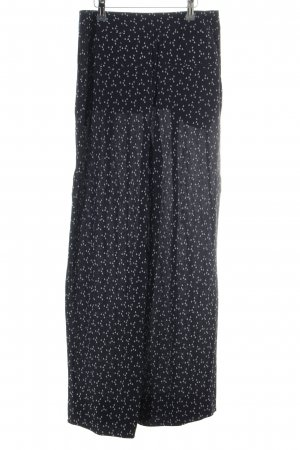 & other stories Jersey Pants dark blue-white elegant