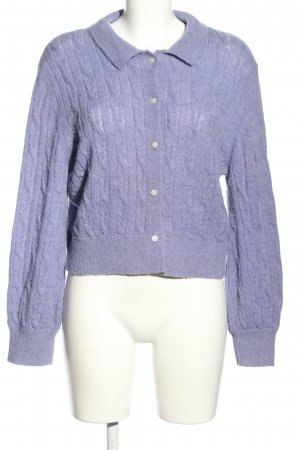 & other stories Strickjacke lila Zopfmuster Casual-Look