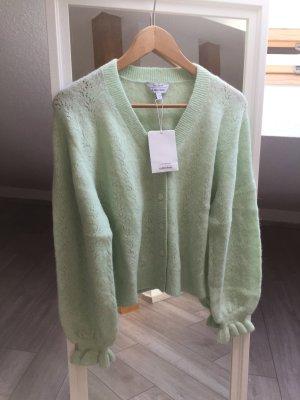 & other stories Szydełkowany sweter bladozielony-jasnozielony Wełna z alpaki