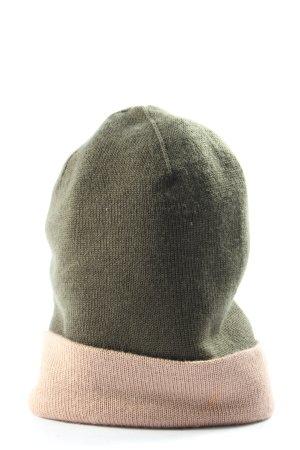 & other stories Chapeau en tricot kaki-rose style décontracté