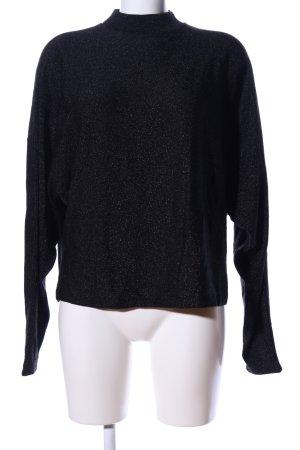& other stories Gebreide trui zwart gestippeld casual uitstraling