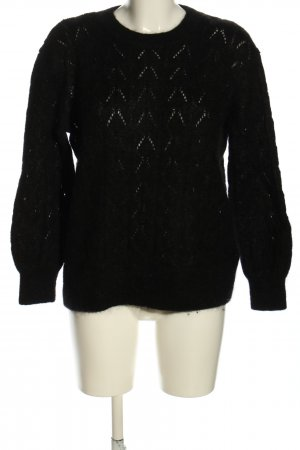 & other stories Strickpullover schwarz Zopfmuster Casual-Look