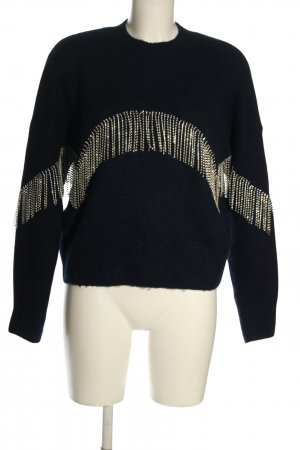 & other stories Jersey de punto azul-color oro look casual