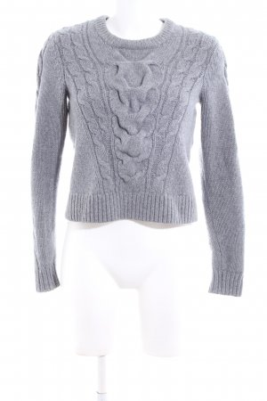 & other stories Strickpullover hellgrau Zopfmuster Casual-Look