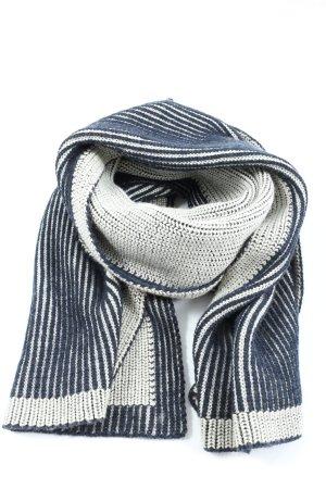 & other stories Bufanda de punto blanco-azul estampado a rayas look casual