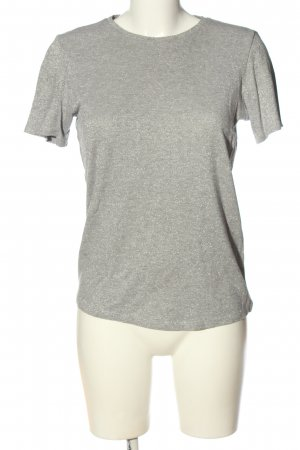 & other stories Gebreid shirt lichtgrijs-zilver casual uitstraling