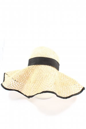 & other stories Straw Hat natural white-black casual look