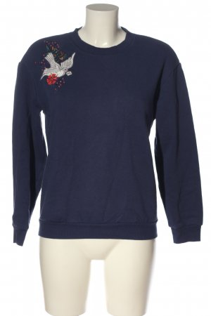 & other stories Sweatshirt blauw-wit casual uitstraling